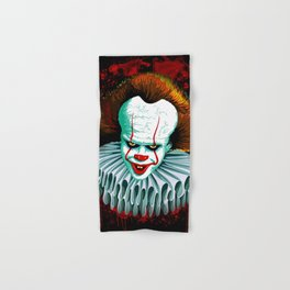 The Dancing Clown - Pennywise IT - Vector - Stephen King Character Hand & Bath Towel