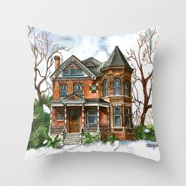 Victorian Winter Throw Pillow