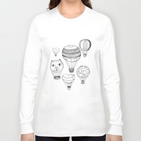 hot air balloons Long Sleeve T-shirts featuring dreaming of hot air balloons by Oh, Hopscotch!