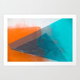 Wet Colors 3 Art Print