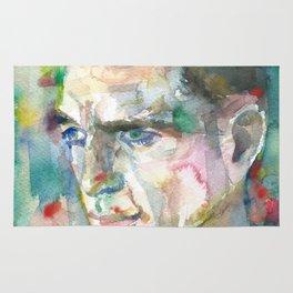 JACK KEROUAC - watercolor portrait.5 Rug