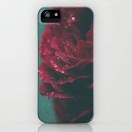 Rain in a Rose iPhone Case