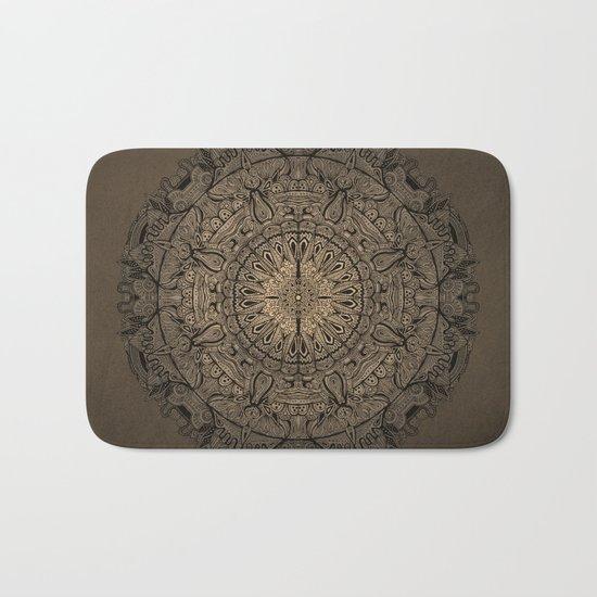 Sepia Mandala Bath Mat