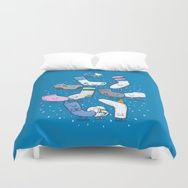 Lost Sock Party Duvet Cover
