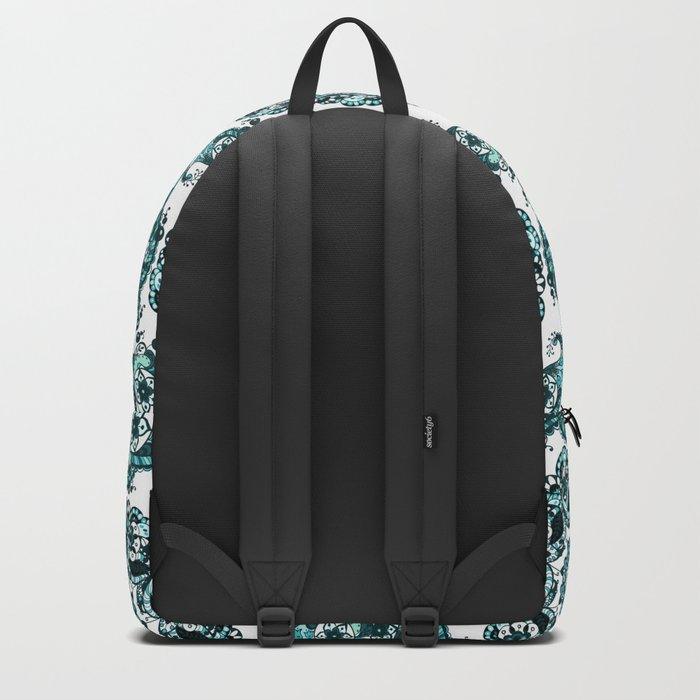 Blue ethnic ornament Backpack
