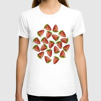 strawberry T-shirts featuring Strawberry by Julia Badeeva