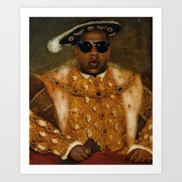Jay in Shades Art Print