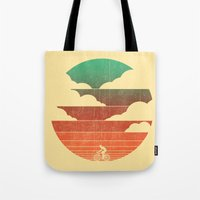 cycling Tote Bags featuring Go West (cycling edition) by Picomodi