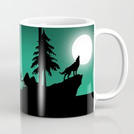The sheep and the wolf in the woods Coffee Mug