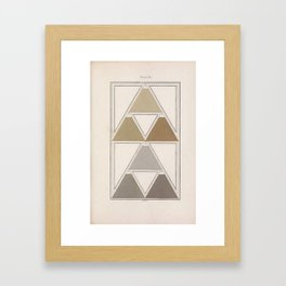 Antique Color Theory Framed Art Print