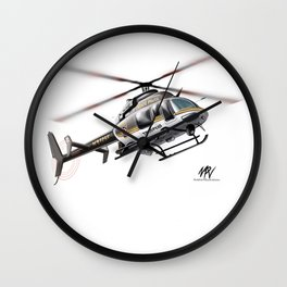 Troopers Bell 407 Wall Clock