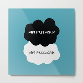 Wifi Password Metal Print