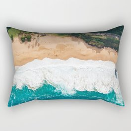 Waimea Bay Aerial Rectangular Pillow