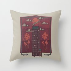 The Towering Bed and Breakfast of Unparalleled Hospitality Throw Pillow