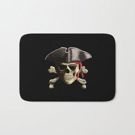 The Jolly Roger Pirate Skull Bath Mat