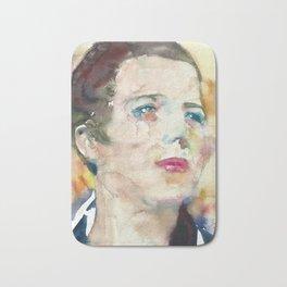 DJUNA BARNES - watercolor portrait Bath Mat