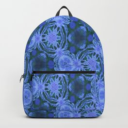 Green and blue flowery pattern Backpack