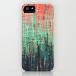 Coral Mint Navy Abstract iPhone Case