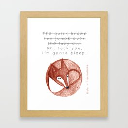 The quick brown fox Framed Art Print