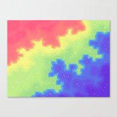Rainbow Pride Flag Galaxy Canvas Print