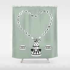 ABC CIRCUS Shower Curtain