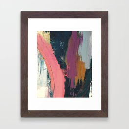 Anywhere: a bold, colorful abstract piece Framed Art Print