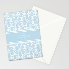 Every Moment (Jane Austen Mansfield Park Quote) Stationery Cards