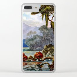 Ernst Haeckel Ceylon Jungle River Clear iPhone Case
