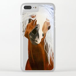 Neigh-belline Clear iPhone Case