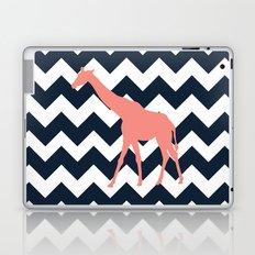 Giraffe on Chevron Background Laptop & iPad Skin