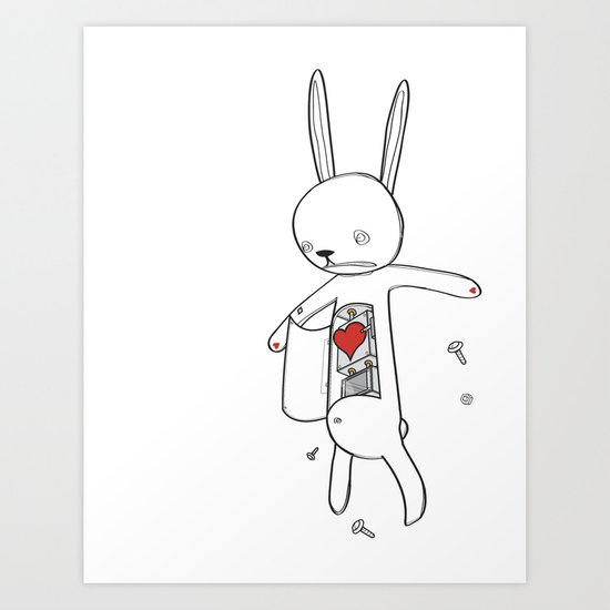 RABBIT FIX 2 Art Print