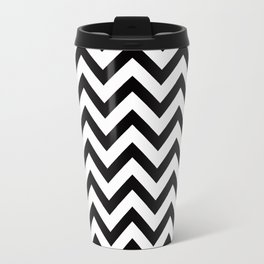 Simple Chevron Pattern - Black & White - Mix & Match with Simplicity Travel Mug