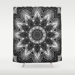 Black and white relaxation Shower Curtain