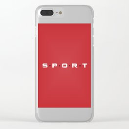 Sport Hero Dynamic Style Red Clear iPhone Case