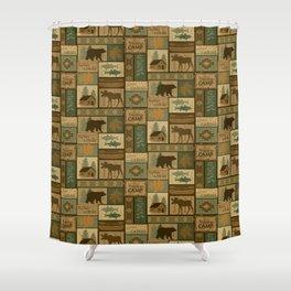 Big Bear Lodge Shower Curtain