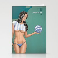 argentina Stationery Cards featuring Argentina by Kingdom Of Calm - Print On Demand