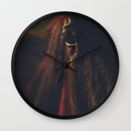 Horse photography, high quality, nature landscape fine art print Wall Clock