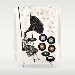 Music Player   Shower Curtain