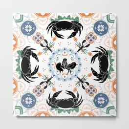 Luscious Crustacean Floral Motif Metal Print