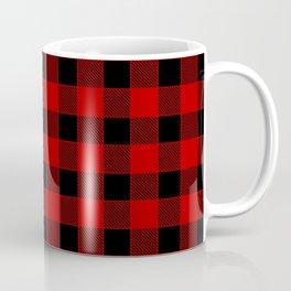 Buffalo Check - black / red Coffee Mug