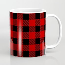 Buffalo Check - black / red Coffee Mug
