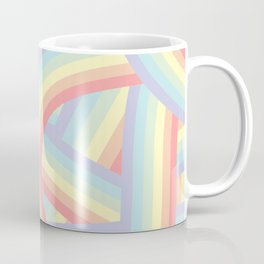 Soft Pastel Rainbow Stripes Pattern Coffee Mug