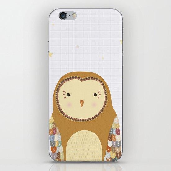 Autumn the Owl iPhone & iPod Skin