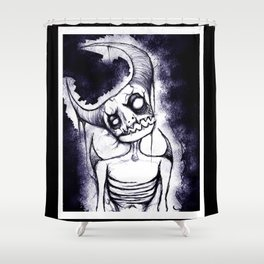 Meep, the Idiot Devil Boy Shower Curtain