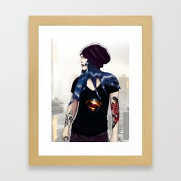 Blue Girl Framed Art Print