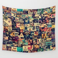 movies Wall Tapestries featuring I Like Movies by ezop