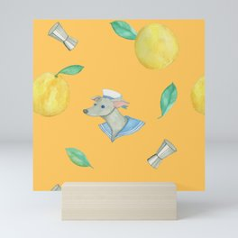 Saltydog_yellow Mini Art Print