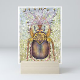 Golden Scarab Mini Art Print