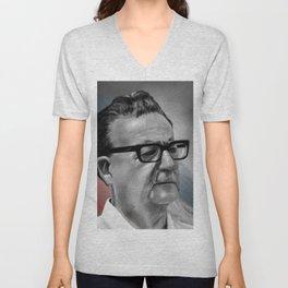 Salvador Allende Unisex V-Neck