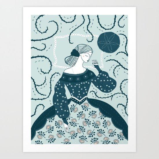 Little Briar Rose Art Print